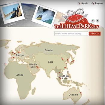 TheThemeParkGuy.com screenshot